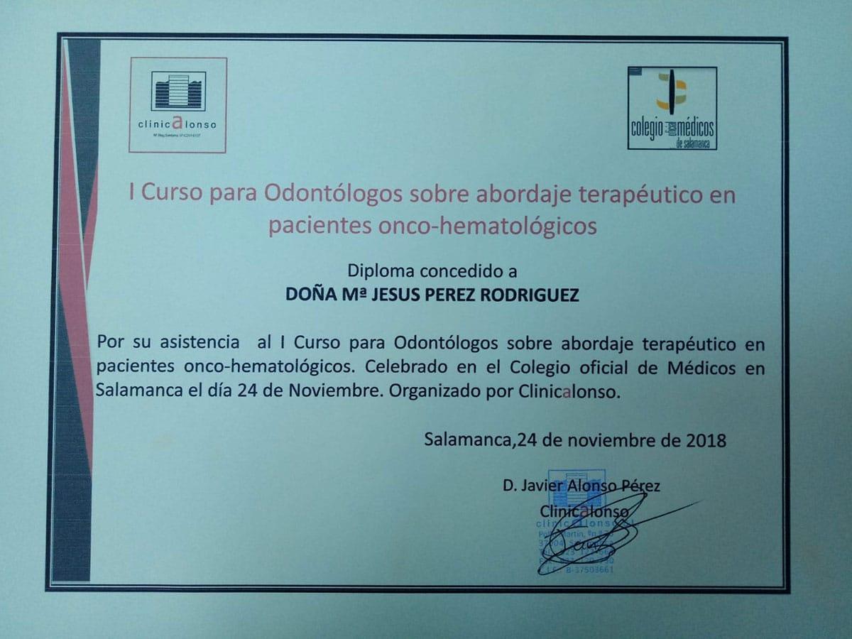 Primer Curso sobre el Manejo del paciente Hematológico y Oncológico.