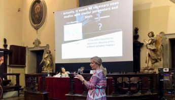 Dra María J. Pérez VII Congreso de la División Europea de la Federación Mundial de Odontología Láser Parma.