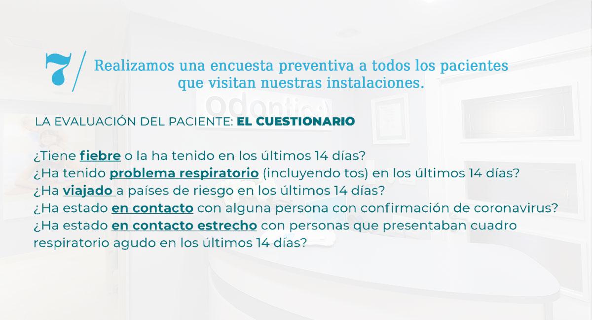 Medidas adoptadas en la clínica dental Odontic frente al coronavirus.